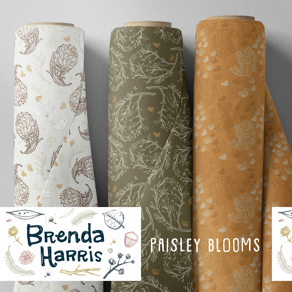Fabric patterns_paisley blooms